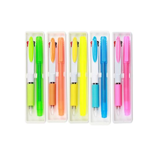 JS-05 2色カラーペン/蛍光ペンSET
