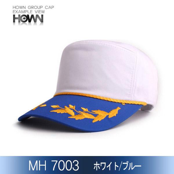 MH7003<br> イベント帽子 (ホワイト/ブルー)