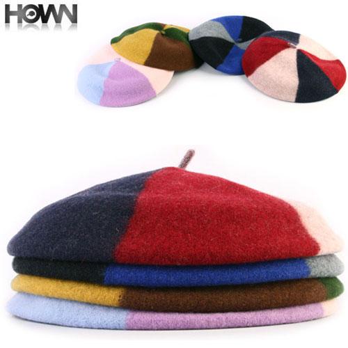 カラフル-ウールベレー帽